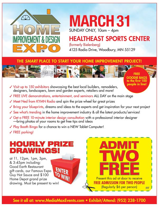 Home Improvement Design Expo We-Prints plus Newspaper Insert printed by Forum Communications Printing