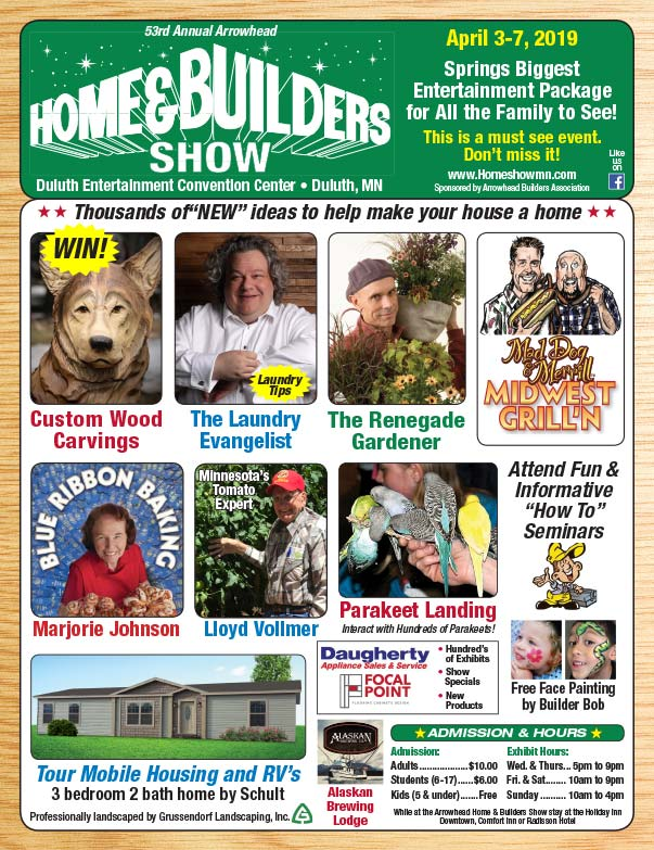 Duluth Home and Builders Show We-Prints plus Newspaper Insert printed by Forum Communications Printing