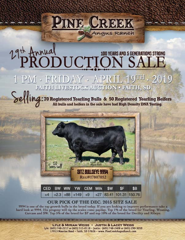 Pine Creek Angus Ranch We-Prints plus Newspaper Insert printed by Forum Communications Printing