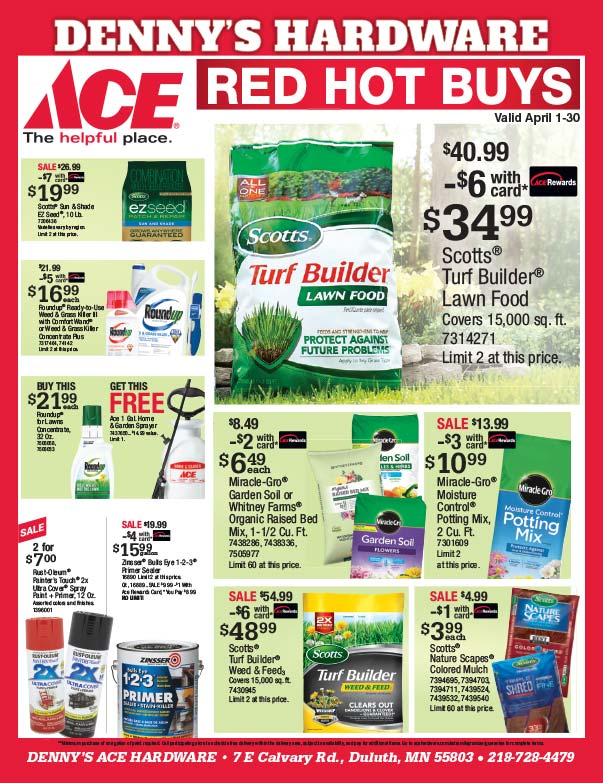 Denny's Ace Hardware We-Prints plus Newspaper Insert printed by Forum Communications Printing