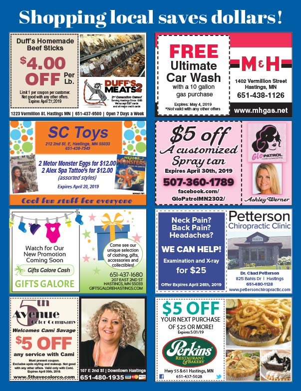 Hastings Minnesota Shop Local We-Prints plus Newspaper Insert printed by Forum Communications Printing
