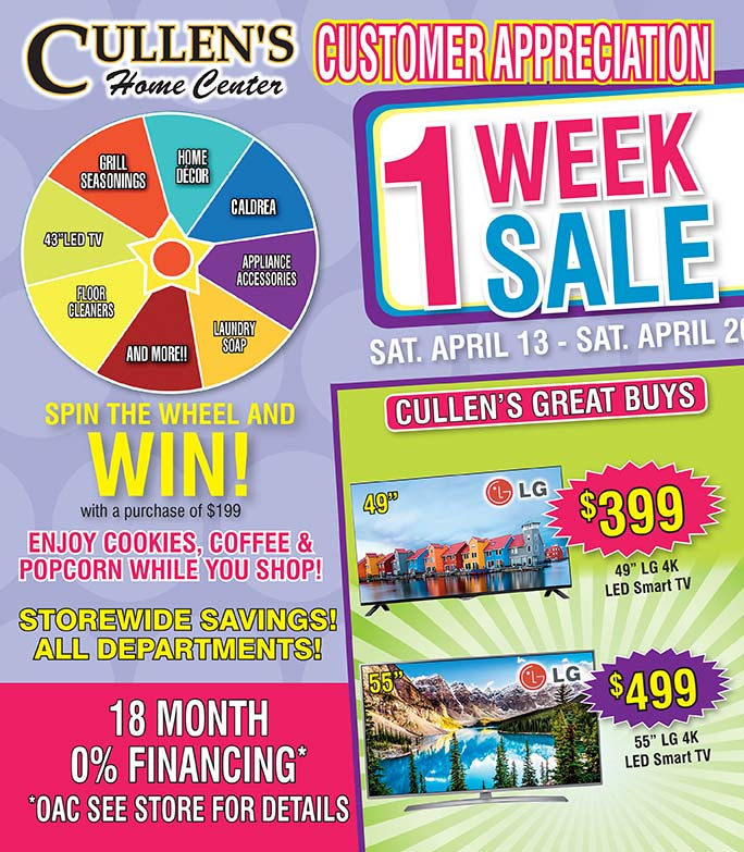 Cullen's Home Center We-Prints Plus Newspaper Inserts printed by Forum Communications Printing