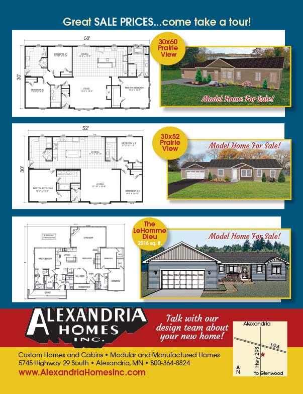 Alexandria Homes Inc We-Prints Plus Newspaper Insert printed by Forum Communications Printing