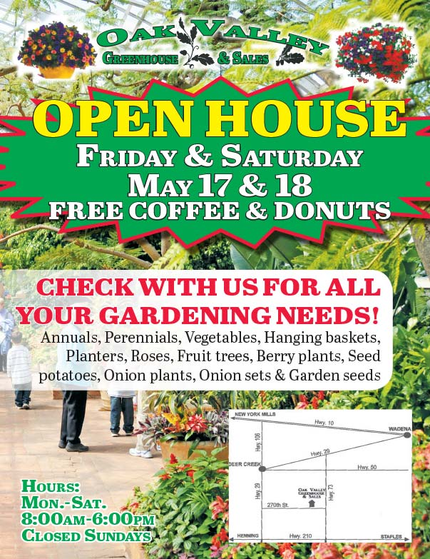 Oak Valley Greenhouse and Sales We-Prints Plus Newspaper Insert printed by Forum Communications Printing