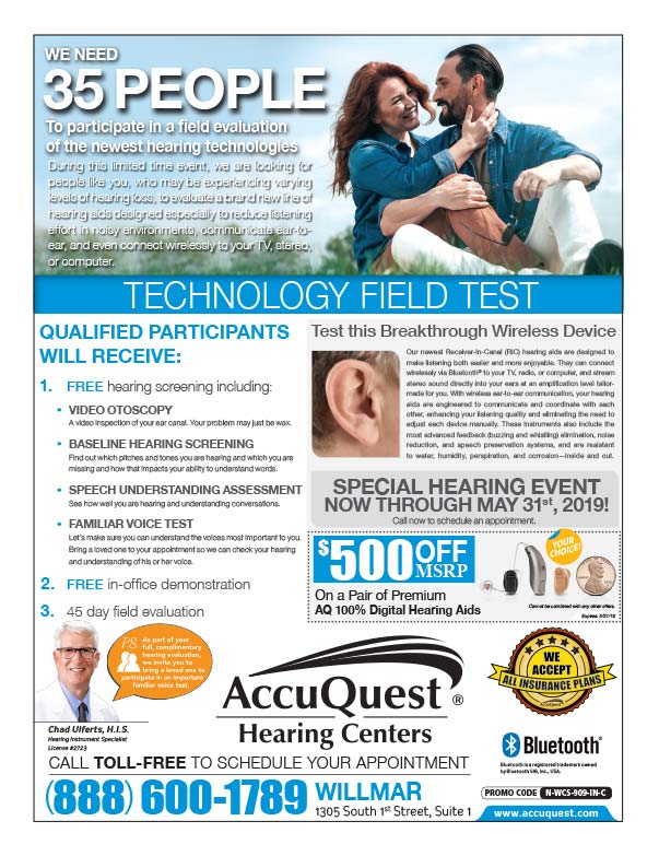 AccuQuest Hearing We-Prints Plus Newspaper Insert printed by Forum Communications Printing