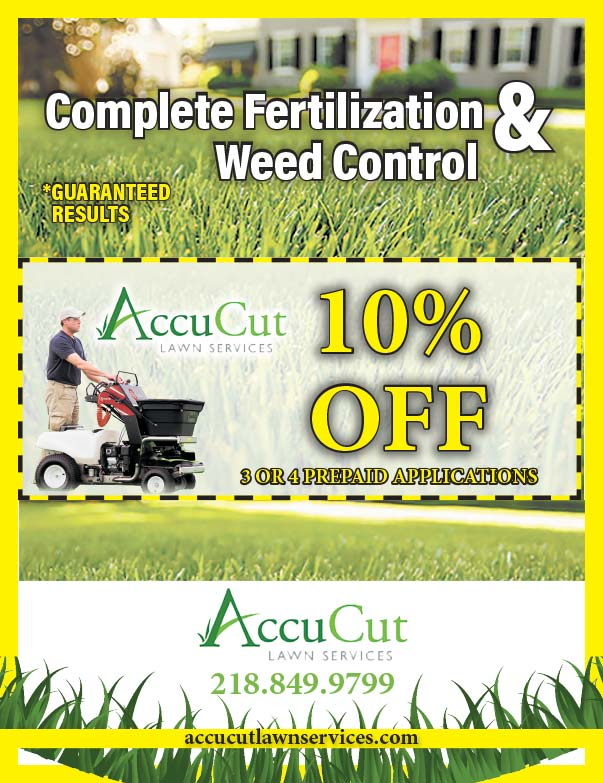 AccuCut Lawn Service We-Prints Plus Newspaper Insert printed by Forum Communications Printing