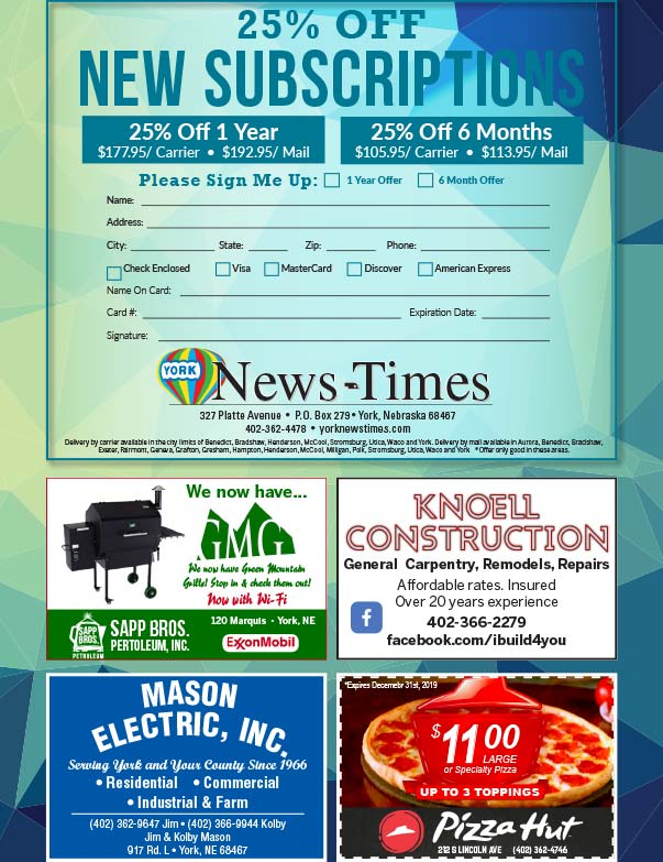 York News Times We-Prints Plus Newspaper Insert printed by Forum Communications Printing