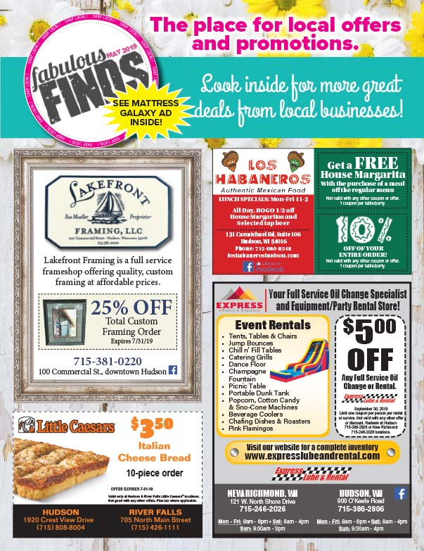 Hudson WI Shop Local We-Prints Plus Newspaper Insert printed by Forum Communications Printing