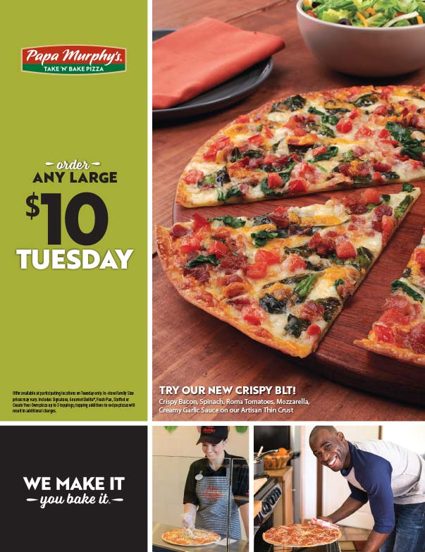 Papa Murphy's Pizza We-Print Plus Newspaper Insert printed by Forum Communications Printing