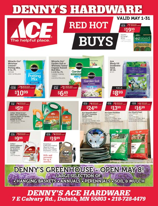 Denny's Ace Hardware We-Print Plus Newspaper Insert printed by Forum Communications Printing