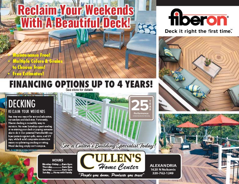 Cullen's Home Center We-Print Plus Newspaper Insert printed by Forum Communications Printing