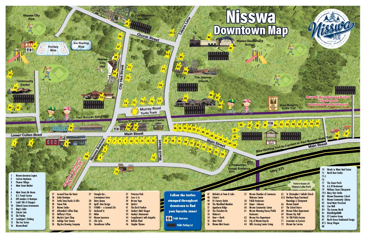 Nisswa Downtown Map We-Prints Plus Newspaper Insert printed by Forum Communications Printing