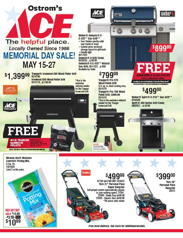 Ostrom's Ace Hardware We-Prints Plus Newspaper Inserts Printed by Forum Communications Printing