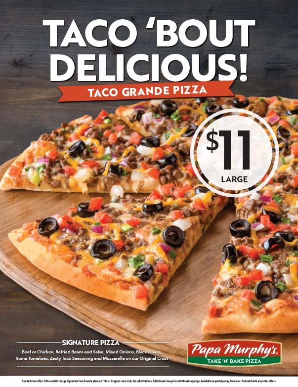 Papa Murphy's Pizza We-Prints Plus Newspaper Insert printed at Forum Communications Printing