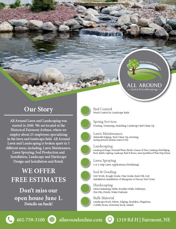 All Around Lawn and Landscaping We-Prints Plus Newspaper Insert printed at Forum Communications Printing