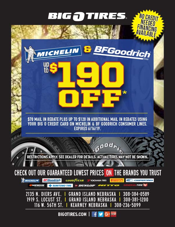 Big O Tire We-Prints Plus Newspaper Insert printed at Forum Communications Printing