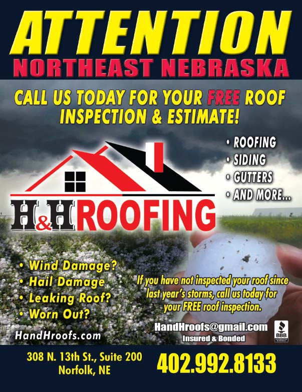 H&H Roofing We-Prints Plus Newspaper Insert printed at Forum Communications Printing