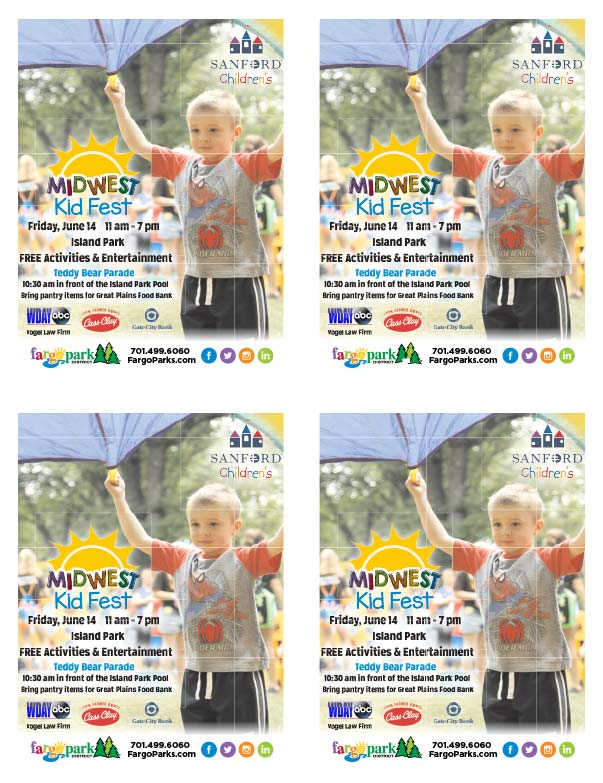 Midwest Kid Fest We-Prints Plus Newspaper Insert printed at Forum Communications Printing