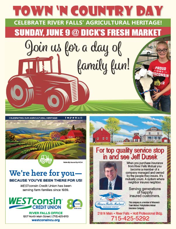 Ricer Falls Town 'n Country Day We-Prints Plus Newspaper Insert Printed by Forum Communications Printing