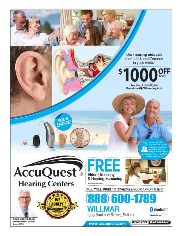 AccuQuest Hearing Center We-Prints Plus Newspaper Insert printed at Forum Communications Printing