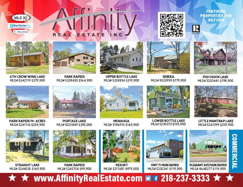 Affinity Real Estate We-Prints Plus Newspaper Insert printed by Forum Communications Printing