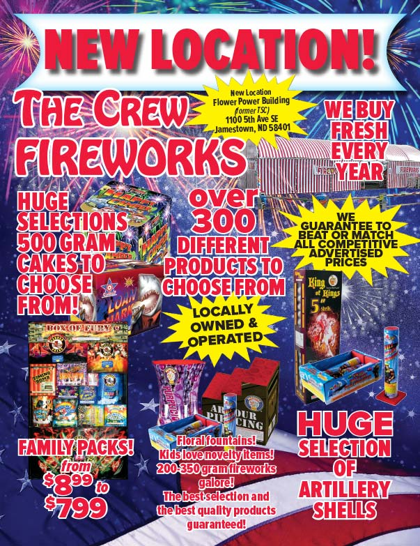 The Crew Fireworks We-Prints Plus Newspaper Insert printed by Forum Communications Printing