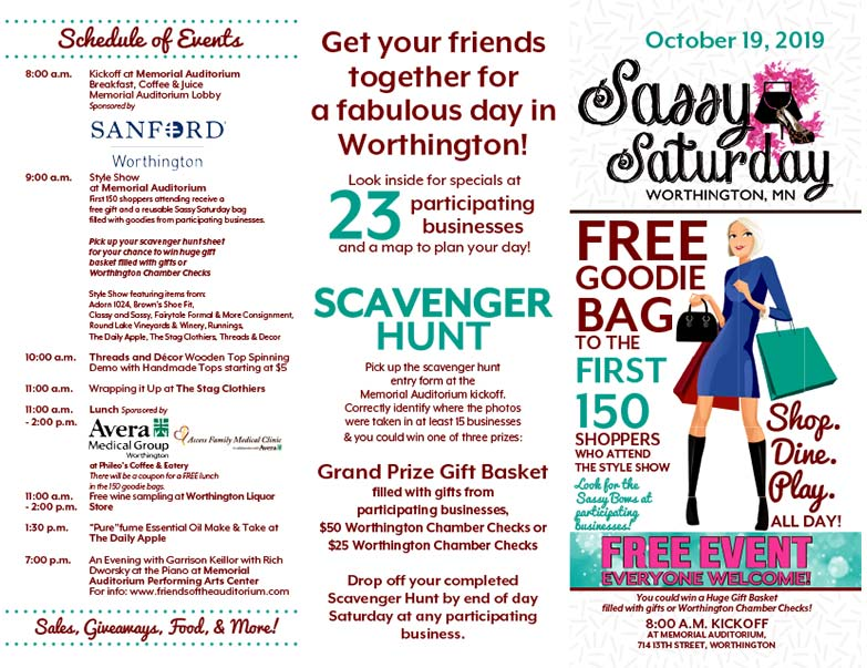Sassy Saturday We-Prints Plus Newspaper Insert printed by Forum Communications Printing
