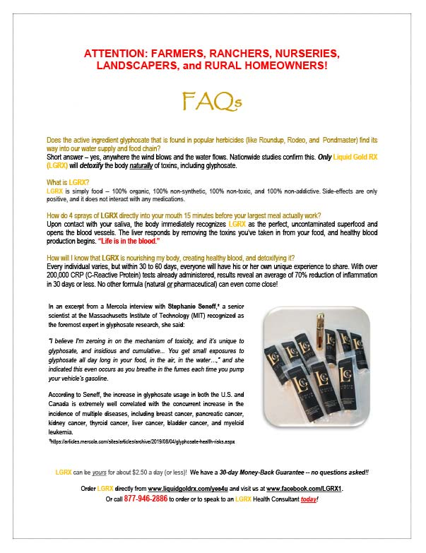 Liquid Gold RX F.A.Q.'s We-Prints Plus Newspaper Insert printed by Forum Communications Printing