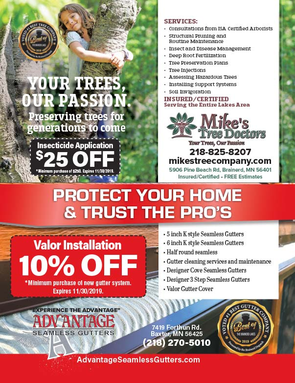 Mike's Tree Doctors, Advanced Seamless Gutter We-Prints Plus Newspaper Insert printed by Forum Communications Printing