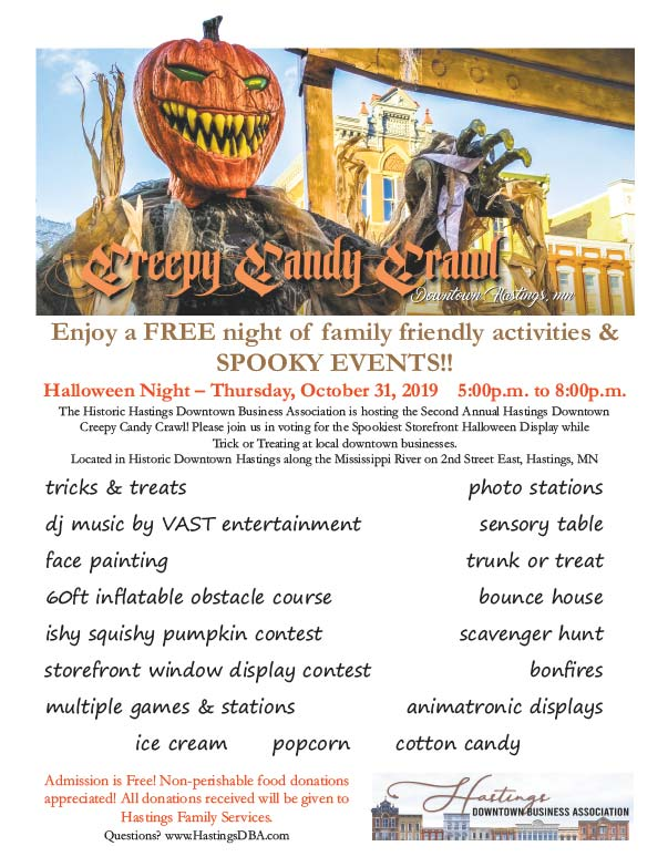 Hastings MN Creepy Candy Crawl We-Prints Plus Newspaper Insert printed by Forum Communications Printing