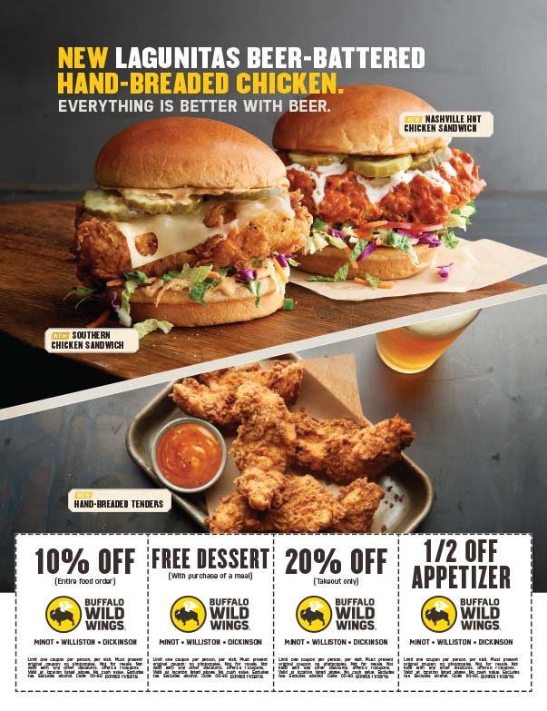 Buffalo Wild Wings We-Prints Plus Newspaper Insert printed by Forum Communications Printing