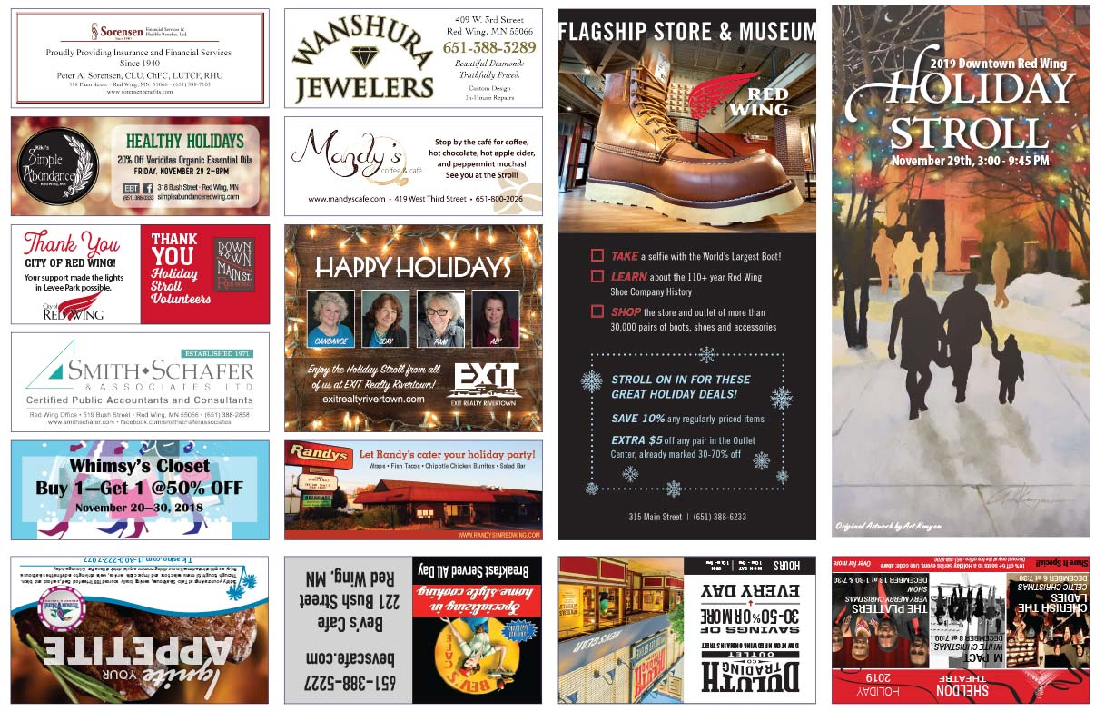 Red Wing MN Holiday Stroll We-Prints Plus Newspaper Insert printed by Forum Communications Printing