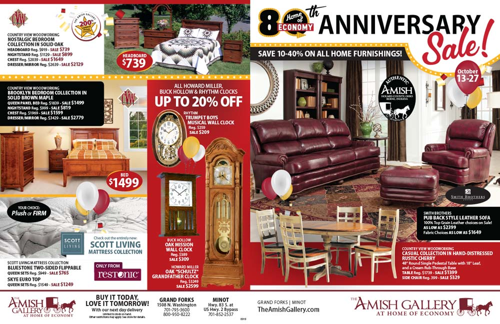 Home of Economy Amish Gallery We-Prints Plus newspaper insert printed by Forum Communications Printing