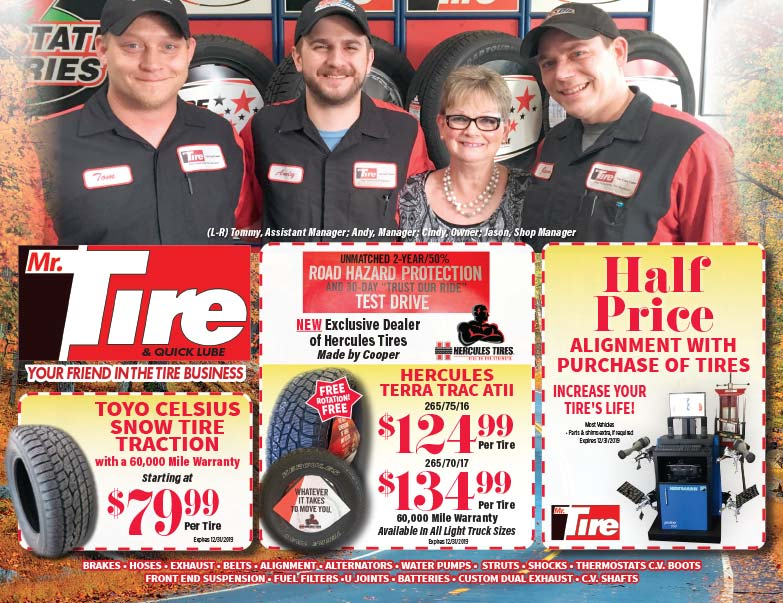 Mr. Tire We-Prints Plus Newspaper Insert printed by Forum Communications Printing