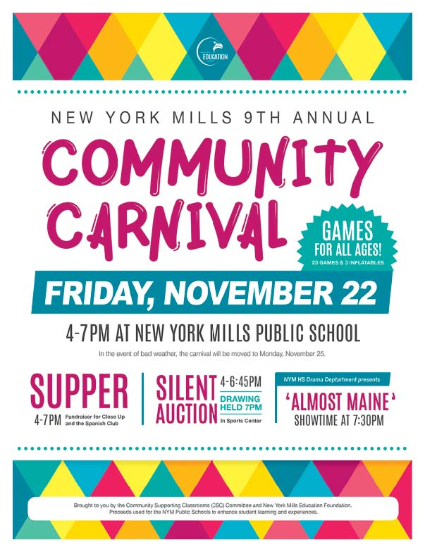 New York Mills 9th Annual Community Canival We-Prints Plus Newspaper INseert printed by Forum Communications Printing