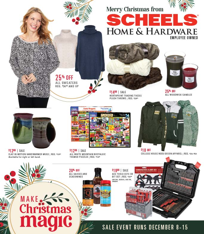 Scheels Home and Hardware We-Prints Plus Newspaper Insert Printed at Forum Communications Printing