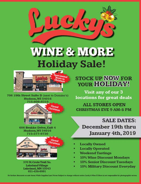 Lucky's Wine and More We-Prints Plus Newspaper Insert