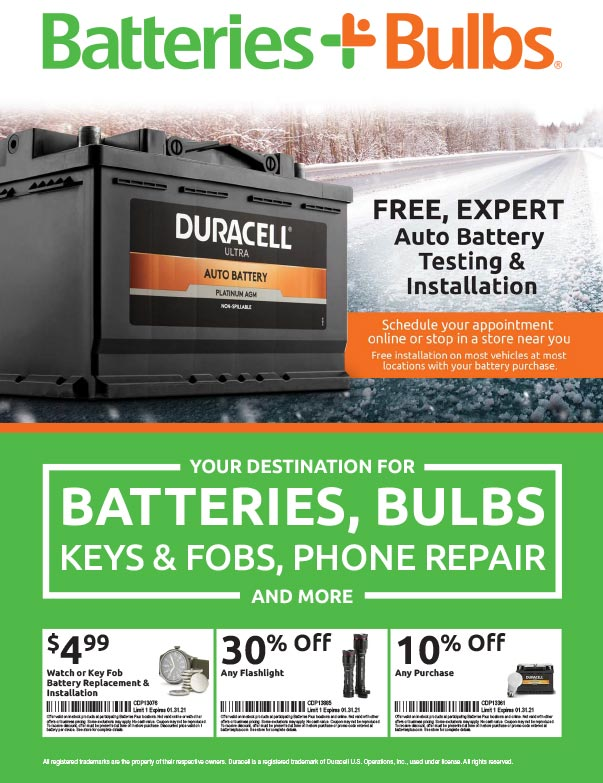 Batteries Plus Bulb We-Prints Plus Newspaper Insert