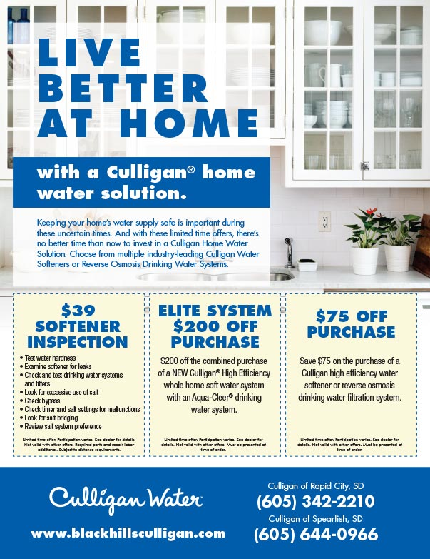 Culligan Water We-Prints Plus Newspaper Insert