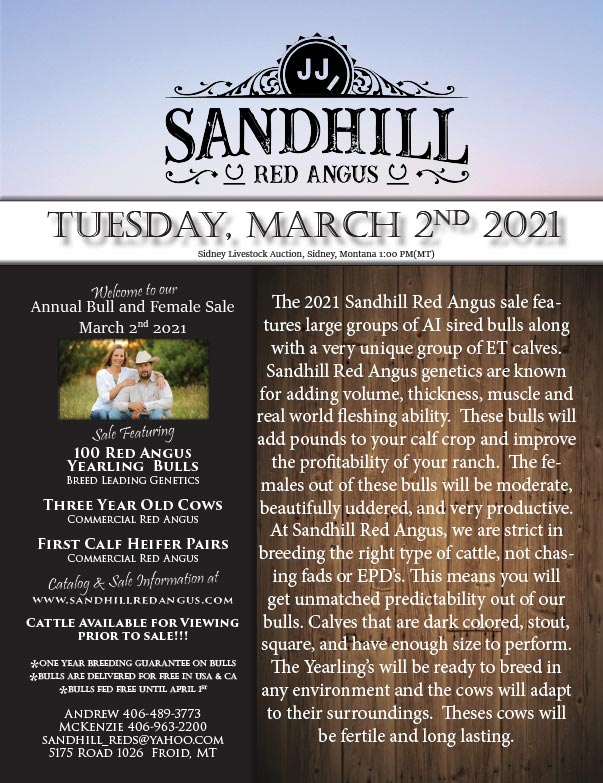 Sandhill Red Angus We-Prints Plus Newspaper Insert