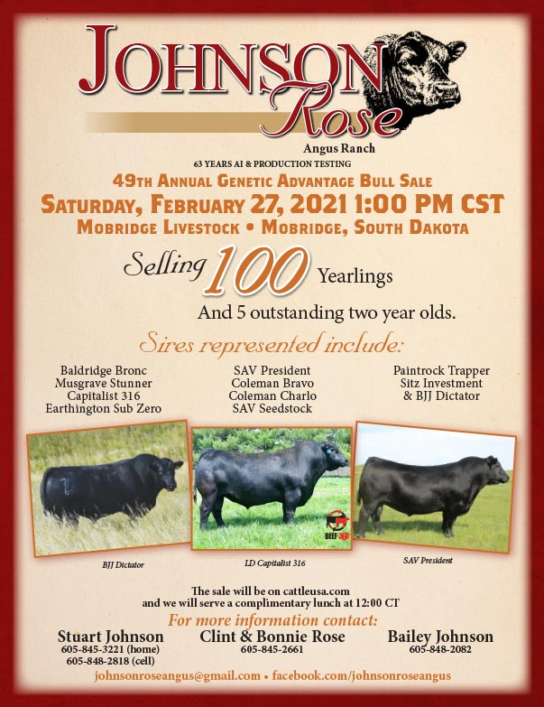 Johnson Rose Angus Ranch We-Prints Plus Newspaper Insert