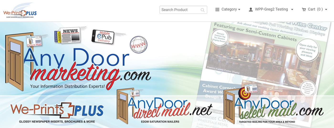 We-Prints Plus & Any Door Marketing Online Ordering Platform