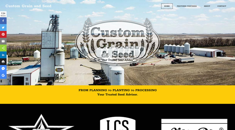 web design, Forum Communications Printing, website development, Custom Grain and Seed