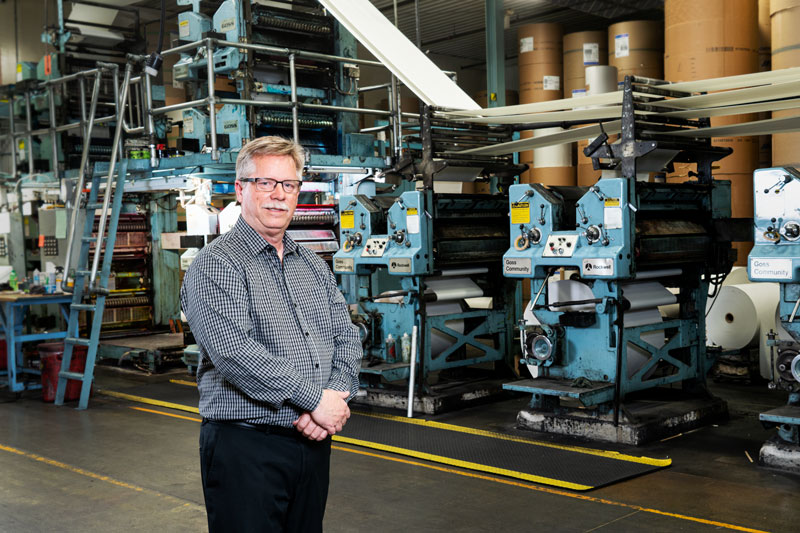 Forum Communications Printing, Detroit Lakes MN, Randy Freed, Printing Plant Manager, FCP DL